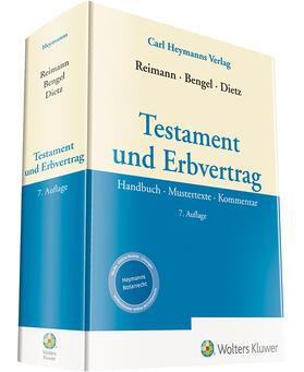 Reimann / Bengel / Dietz | Testament und Erbvertrag | Buch | sack.de