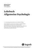 Spada / Kiesel |  Lehrbuch Allgemeine Psychologie | eBook | Sack Fachmedien