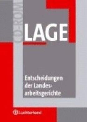 Lipke   Entscheidungen der Landesarbeitsgerichte LAGE-CD-ROM    Sonstiges   sack.de