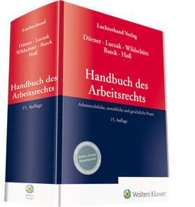 Luczak / Wildschütz / Baeck | Handbuch des Arbeitsrechts | Buch | sack.de