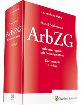 Schliemann | ArbZG - Kommentar | Buch | sack.de