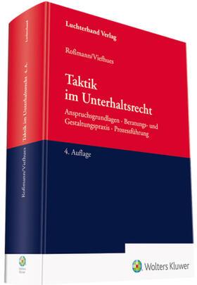 Roßmann / Viefhues | Taktik im Unterhaltsrecht | Buch | sack.de