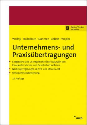 Hallerbach / Wepler / Dönmez   Unternehmens- und Praxisübertragungen   Buch   sack.de