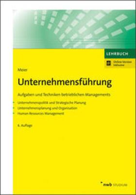 Meier   Unternehmensführung   Buch   sack.de