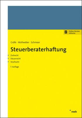 Gräfe / Lenzen / Schmeer | Steuerberaterhaftung | Buch | sack.de