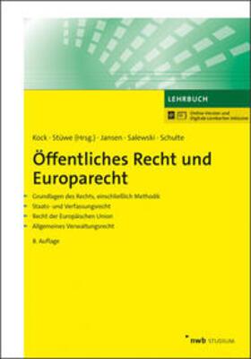 Kock / Stüwe | Öffentliches Recht und Europarecht | Online-Buch | sack.de