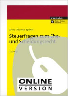 Arens / Daumke / Pelke   Steuerfragen zum Ehe- und Scheidungsrecht   Online-Buch   sack.de