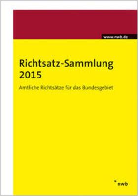 Richtsatz-Sammlung 2015 | Buch | sack.de