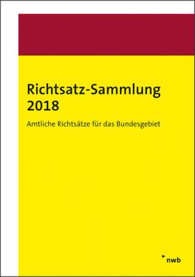 Bundesministerium der Finanzen | Richtsatz-Sammlung 2018 | Buch | sack.de