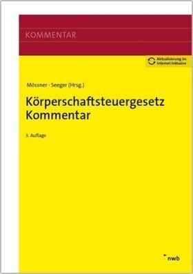 Mössner / Seeger | Körperschaftsteuergesetz Kommentar | Buch | sack.de