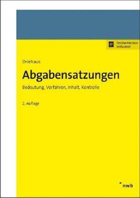 Driehaus | Abgabensatzungen | Buch | sack.de
