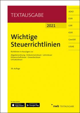 Wichtige Steuerrichtlinien, Textausgabe | Buch | sack.de