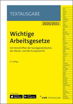 Wichtige Arbeitsgesetze | Buch | sack.de