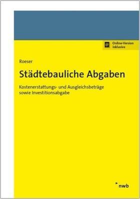 Roeser | Städtebauliche Abgaben | Buch | sack.de