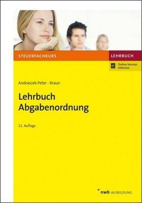 Andrascek-Peter / Braun | Lehrbuch Abgabenordnung | Buch | sack.de