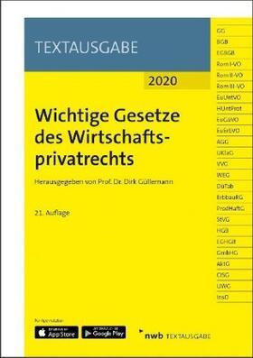 Güllemann | Wichtige Gesetze des Wirtschaftsprivatrechts | Buch | sack.de