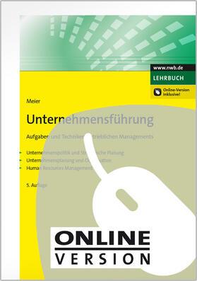 Meier | Unternehmensführung | Online-Buch | sack.de