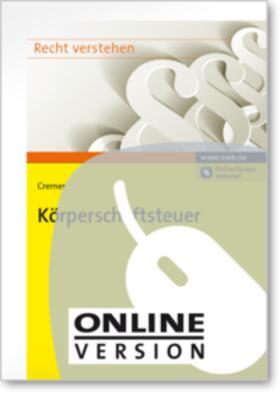 Cremer   Körperschaftsteuer   Online-Buch   sack.de