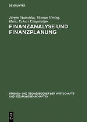 Hering / Klingelhöfer / Matschke   Finanzanalyse und Finanzplanung   Buch   sack.de