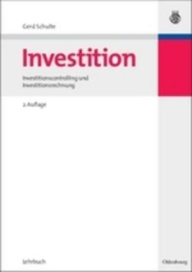 Schulte | Investition | Buch | sack.de