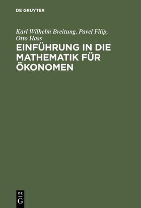Breitung / Filip / Hass   Einführung in die Mathematik für Ökonomen   E-Book   sack.de