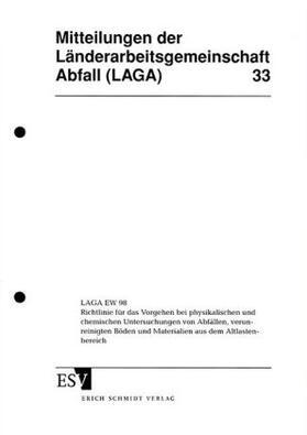 LAGA-Mitteilung 33 | Buch | sack.de
