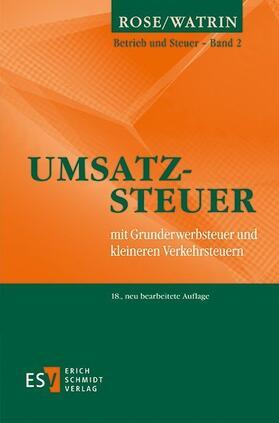 Watrin / Rose | Umsatzsteuer | Buch | sack.de