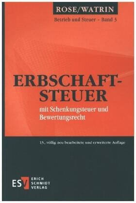 Watrin / Riegler / Rose   Erbschaftsteuer   Buch   sack.de