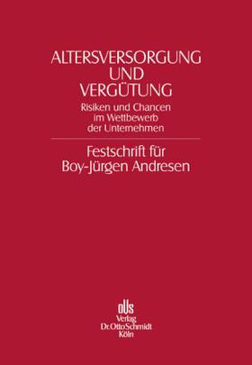 Förster / Gohdes / Recktenwald   Altersversorgung und Vergütung   Buch   sack.de