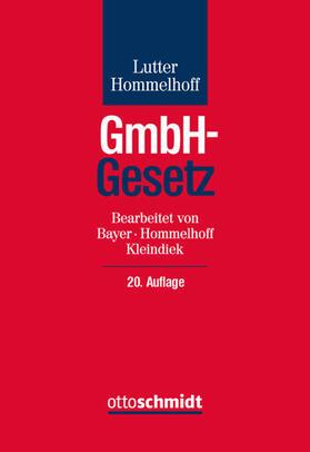 Lutter/Hommelhoff | GmbH-Gesetz | Buch | Sack Fachmedien