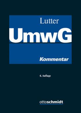 Lutter | Umwandlungsgesetz: UmwG | Buch | Sack Fachmedien