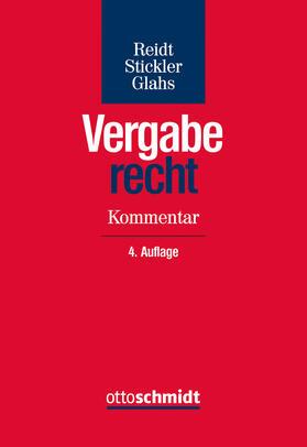 Reidt / Stickler / Glahs | Vergaberecht | Buch
