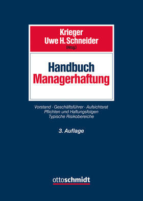 Krieger / Schneider   Handbuch Managerhaftung   Buch   sack.de