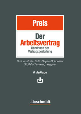Preis / Preis | Der Arbeitsvertrag | Buch | sack.de