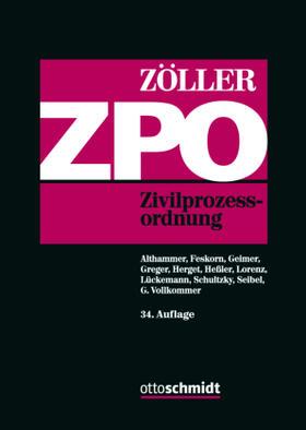 Zöller / Zöller   Zivilprozessordnung: ZPO   Buch   sack.de