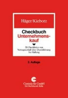 Häger / Reschke   Checkbuch Unternehmenskauf   Buch   sack.de