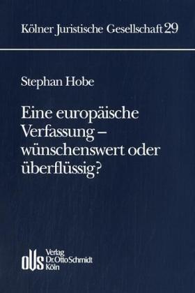 Hobe | Eine europäische Verfassung - wünschenswert oder überflüssig? | Buch | sack.de