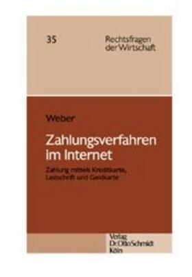 Weber | Zahlungsverfahren im Internet | Buch | sack.de