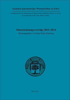 Klöcking | Klassensitzungsvorträge 2013–2014 | Buch | sack.de