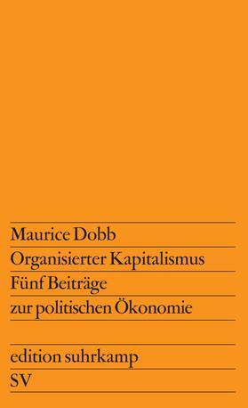 Dobb | Organisierter Kapitalismus | Buch | sack.de