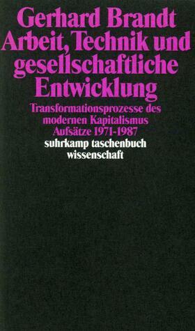 Brandt / Bieber / Schumm   Arbeit, Technik und gesellschaftliche Entwicklung   Buch   sack.de