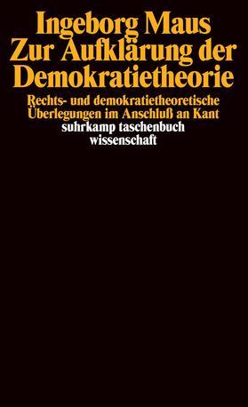 Maus | Zur Aufklärung der Demokratietheorie | Buch | sack.de