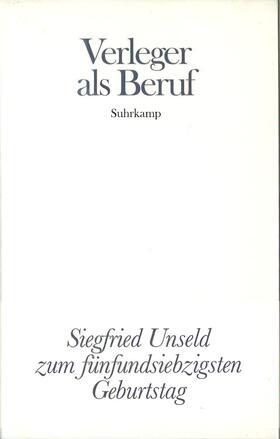 Verleger als Beruf | Buch | sack.de