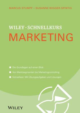 Stumpf / Wigger-Spintig   Wiley-Schnellkurs Marketing   Buch   Sack Fachmedien