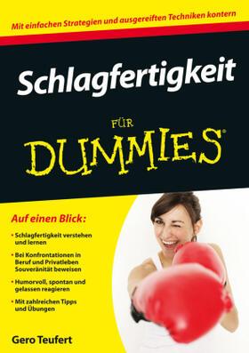 Teufert   Schlagfertigkeit für Dummies   Buch   sack.de