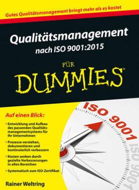 Weltring   Qualitätsmanagement nach ISO 9001:2015 für Dummies   Buch   sack.de