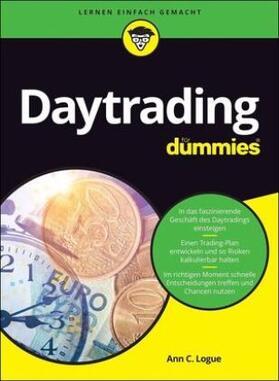 Logue | Daytrading für Dummies | Buch | sack.de