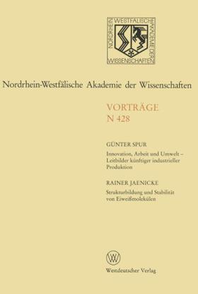 Spur | Innovation, Arbeit und Umwelt | Buch | sack.de