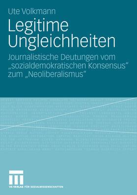Volkmann | Legitime Ungleichheiten | Buch | Sack Fachmedien