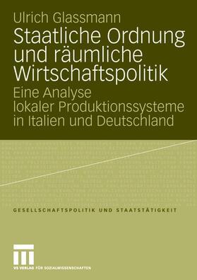 Glassmann   Staatliche Ordnung und räumliche Wirtschaftspolitik   Buch   sack.de